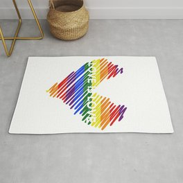 Rainbow, Love is Love, Pride LGBTQ Rug