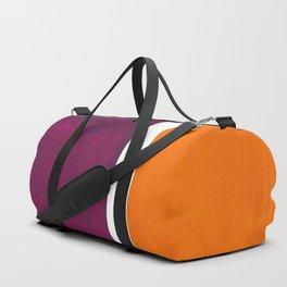 Purple Wine Yellow OchreMid Century Modern Abstract Minimalist Rothko Color Field Squares Duffle Bag