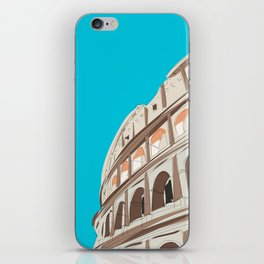 Rome, Italy Colosseum Travel Poster iPhone Skin