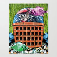wasted rita Canvas Prints featuring WASTED by Laertis Art