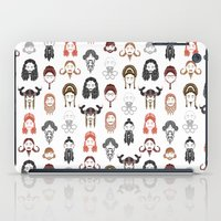 middle earth iPad Cases featuring The Unwritten Lady Dwarves of Middle Earth by geeksweetie