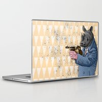 gangster Laptop & iPad Skins featuring Gangster Rhino by Ichorteeth