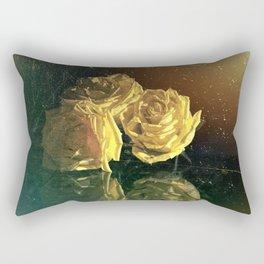 Yellow Vintage Roses Rectangular Pillow