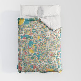 San Francisco Map Art Comforters