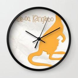 SERIES: toodle-oo kangaroo Wall Clock