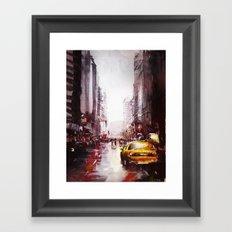 New york painting Framed Art Print