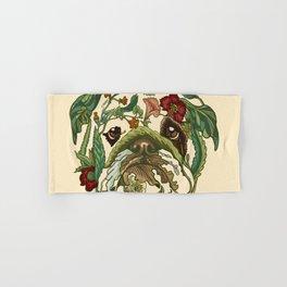 Botanical English Bulldog Hand & Bath Towel
