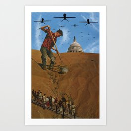 Your Democracy at Work Art Print