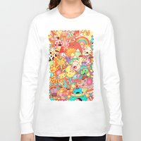 kpop Long Sleeve T-shirts featuring Wackoblast! by Sillyrabs