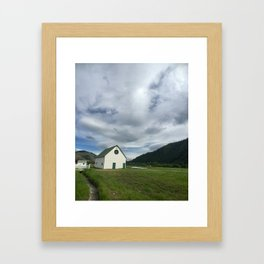 White Barn - Sun Valley, Idaho Framed Art Print