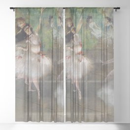 Dancers 1 By Edgar Degas   Reproduction   Famous French Painter Sheer Curtain