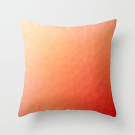 Red flakes Throw Pillow