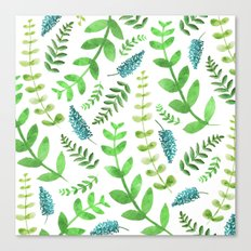 Greenery Leaves Pattern Canvas Print