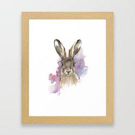 Hare portrait Framed Art Print