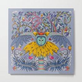 Owl kingdom in blue Metal Print