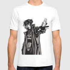 Gambit vector White Mens Fitted Tee MEDIUM