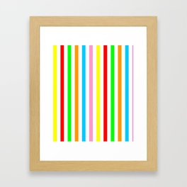 multicolor columns-mutlicolor,abstraction,abstract,fun,line,geometric,geometrical,columns, Framed Art Print