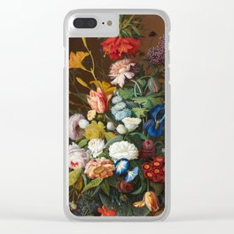 Flower Still Life with Bird's Nest, 1853 Clear iPhone Case