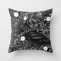 gothic Throw Pillows featuring Gothic by JJacksArt