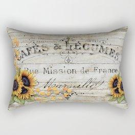 Vintage Sunflowers Rectangular Pillow