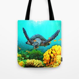 Turtle in Water Tote Bag
