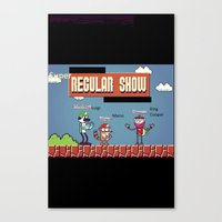 regular show Canvas Prints featuring Super Regular Show Bros. by Poetic_Hoopa