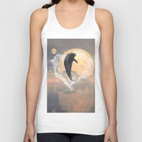 dolphin Tank Tops featuring Dolphin by nicky2342