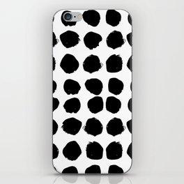 Florence - black and white minimal modern abstract home decor art india ink brushstroke boho trendy iPhone Skin