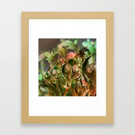 Natural and fractal seedlings Framed Art Print