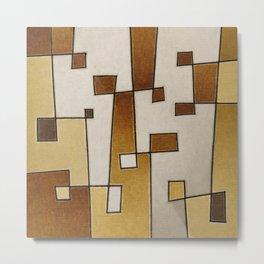Protoglifo 07 'From gold to copper' Metal Print