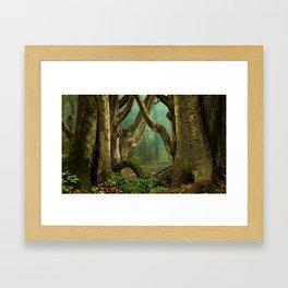 Celtic druids forest Framed Art Print