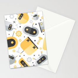 Attack of the Robots: Yellow Stationery Cards