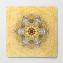Golden Octavian Mandala Metal Print