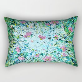 Cosmos Against the Sky   Rectangular Pillow