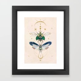 Moon insects Framed Art Print