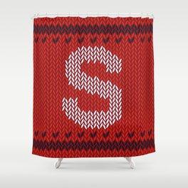 Alphabet Drop Caps Series- S Shower Curtain