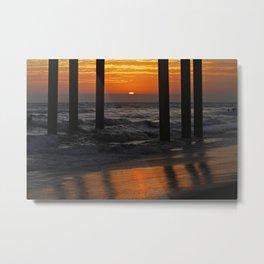 Huntington Beach Pier Sunset  Metal Print