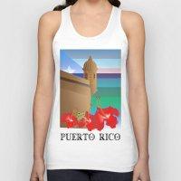 puerto rico Tank Tops featuring Puerto Rico by PADMA DESIGNS PR