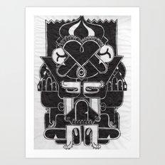 Duck Totem Art Print
