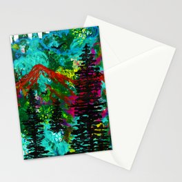 Go Wild - Mountain - Abstract painting Stationery Cards