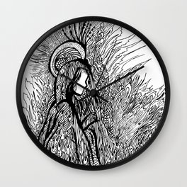 angel of light Wall Clock