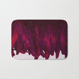 Cranberry Feathers Bath Mat