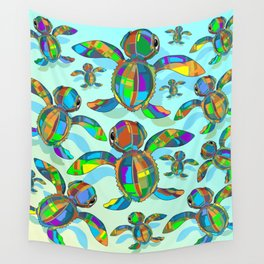 Baby Sea Turtle Fabric Toy Wall Tapestry