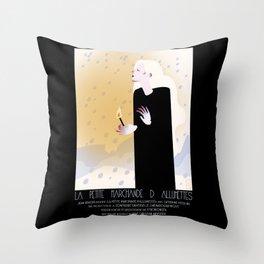 La Petite Fille aux Allumettes Throw Pillow