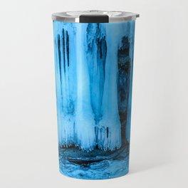 Ice curtain of the lake Baikal Travel Mug