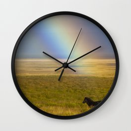 Magical Horses in Iceland Wall Clock