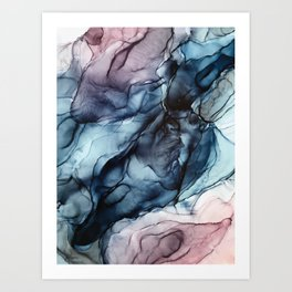 Blush and Darkness Abstract Paintings Art Print