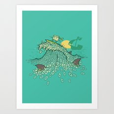 Surfin' Soundwaves Art Print