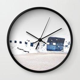 Crashed Plane Iceland Wall Clock