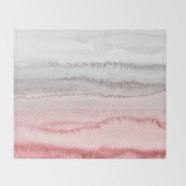 WITHIN THE TIDES - ROSE TO GREY Throw Blanket